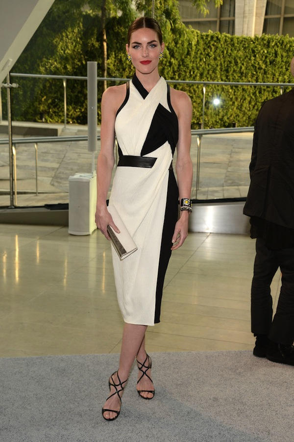 Hilary-Rhoda-in-Helmut-Lang-at-2013-CFDA-Fashion-Awards